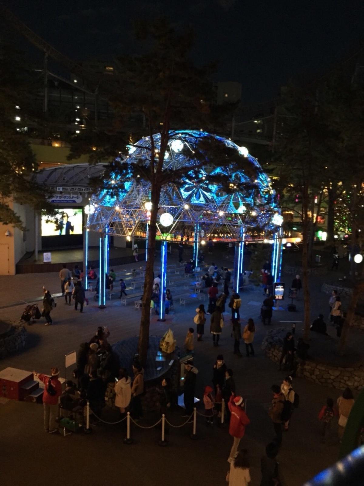 後楽園遊園地夜景3